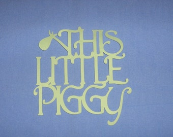 This little Piggy, Mother Goose, nursery rhymes for baby shower, scrapbooking, invitations, birth announcements, decor