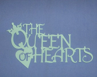 Queen of Hearts, Mother Goose, Alice in wonderland, for baby shower, scrapbooking, invitations, birth announcements, decor
