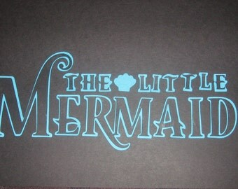 The Little Mermaid Princess die cut for decor,parties, scrapbooking