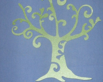 Die Cut paper ornate Tree for invitations, scrapbooking, crafting
