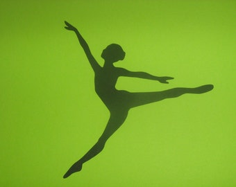 Ballerina Silhouette for invitations, banners, scrapbooking,framing