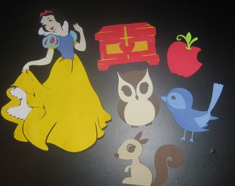 Snow White centerpiece, accessories, scrap booking, invitations, banners, birthday party, nursery