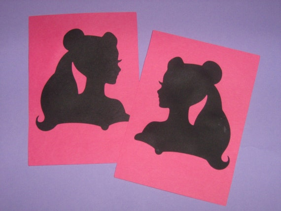 Belle Beauty and the Beast silhouette storybook cards and envelopes for invitations, birthdays, gift giving
