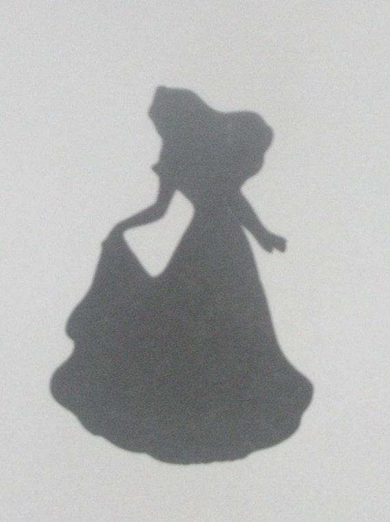 Items Similar To Wedding Silhouette Disney Princess