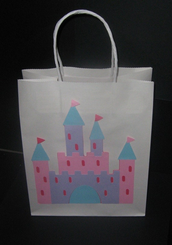 Castle, Fairytale, Princess, Once Upon a Time  favor bag or gift bag for birthday's, baby showers, gifts