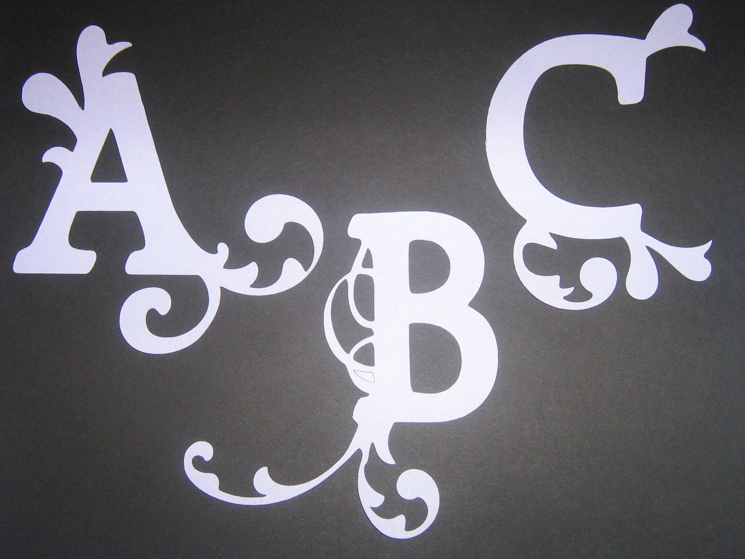 die cut letters beautiful ornate die cut letters for invitations 21364 | il fullxfull.259138946