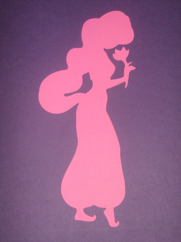 disney princess jasmine silhouettes for framing birthday