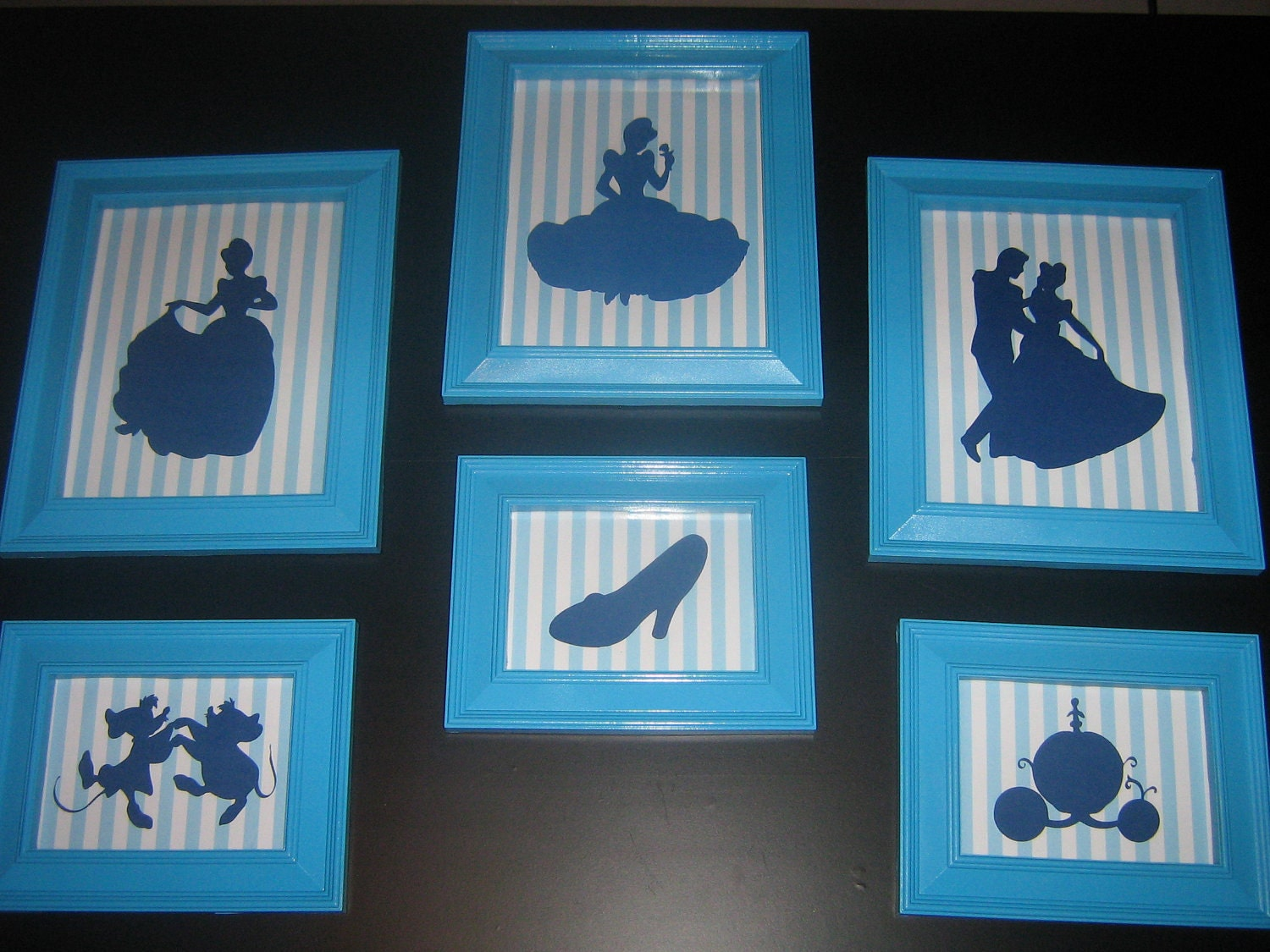 Framed Nursery Art Disney Princess Silhouette Cinderella