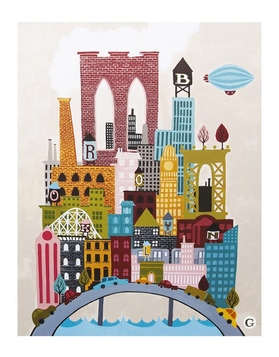 "The Original Big Brooklyn Print (Large : 13"" x 19"")"