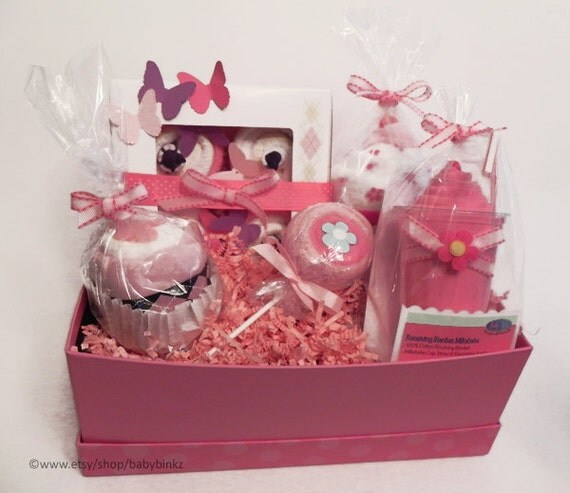 gift basket unique baby shower gift or centerpiece cute girl
