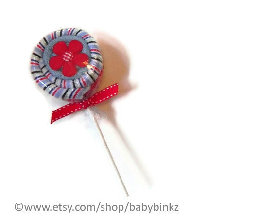Washcloth Lollipop - Unique Baby Gifts & Favors boy girl neutral infant washcloth