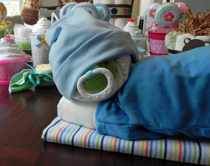 Sleeping Baby Diaper Cake