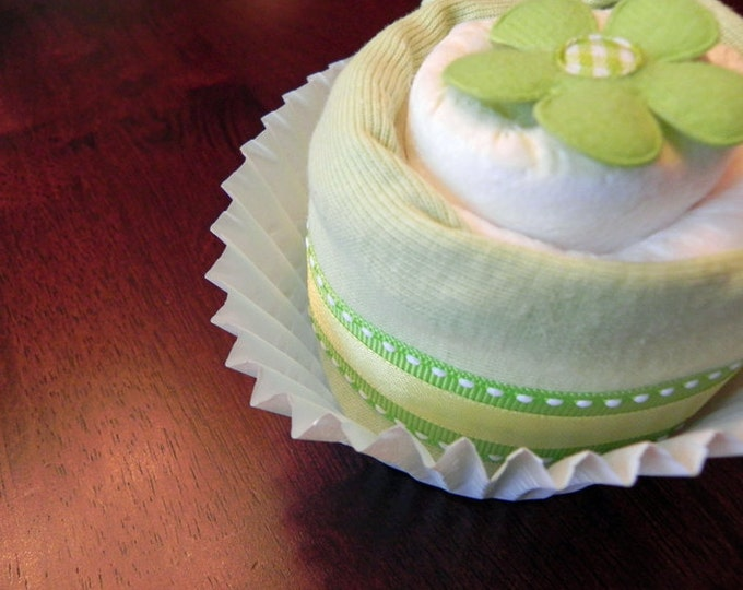 Single Diaper & Bodysuit Cupcake - Unique Baby Shower Gifts and Favors