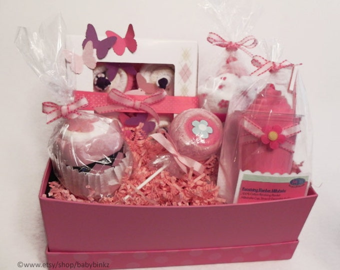 BabyBinkz Gift Basket - Unique Baby Shower Gift or Centerpiece cute girl boy neutral
