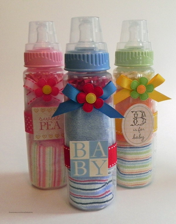 washcloth baby bottle unique baby shower gifts and favors