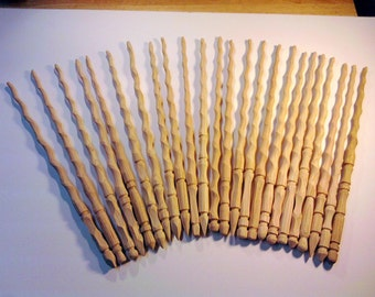 Lot of Ten (10) Unfinished Wands, Hand Carved Harry Potter Inspired