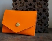 Neon Orange Envelope Wallet