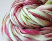 98 Yards Handspun Thick and Thin Slub Yarn - 3.1 Ounces - Free Shipping in the US