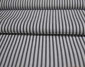 SALE - Organic Cotton - Stripe White/Navy - 1 yard