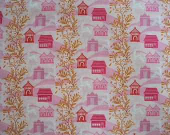 SALE One Yard Anna Maria Horner Little Folks Voile - Forest Hills in Berry