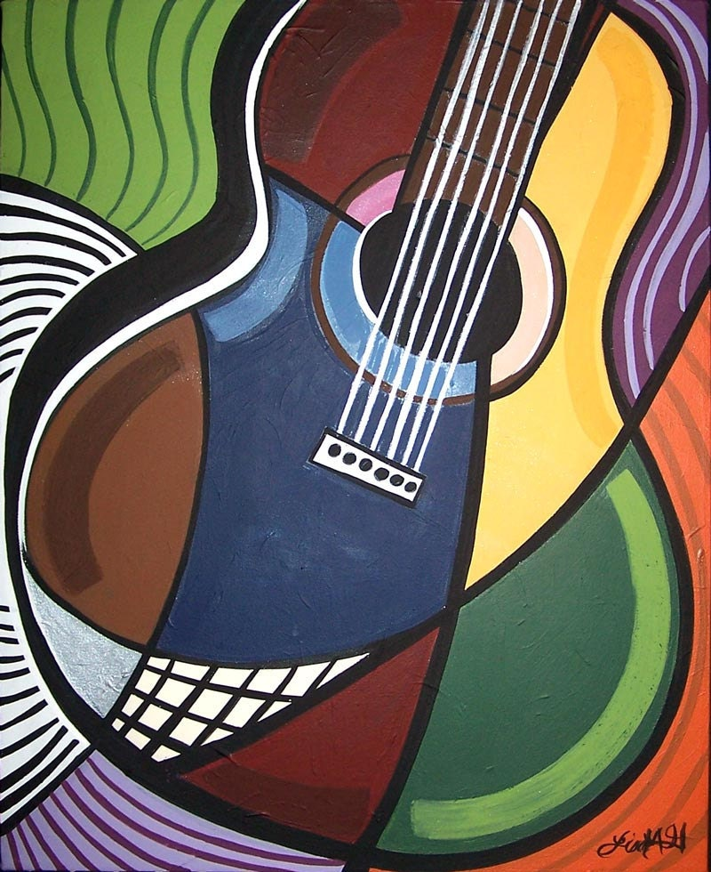 items similar to acoustic guitar music art print 8x10 matted to 11x14 on etsy. Black Bedroom Furniture Sets. Home Design Ideas