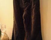 Custom Olive Green Velvet Pants