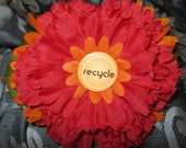 RECYCLE CHIC Flower Headband - OOAK - Upcycled - Women - Children - Teen - Bright - Flowers - Upcycled Pin