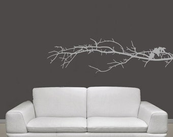 Tree Branch Vinyl Wall Decal   Tree Branch Decal   Tree Branch Wall Decor    Nature