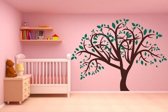 Large Nursery Tree with Leaves Vinyl Wall Decal Mural 22175