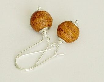 Morocco Modern Brown Dangle Earrings