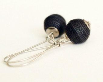 Black Morocco Earrings-Boho Dangle Earrings
