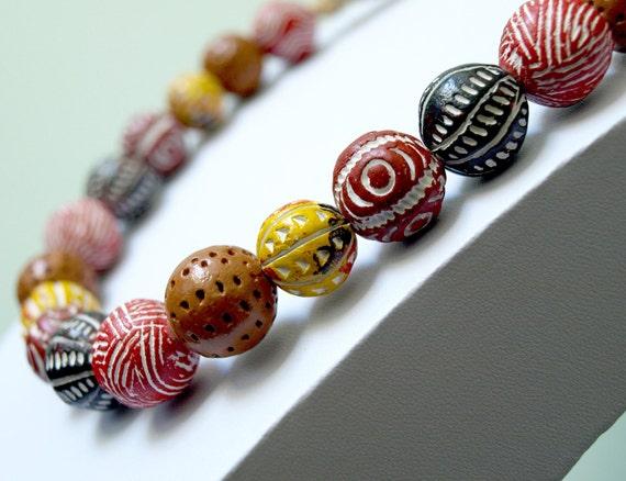 Rustic Africa Necklace-Boho Tribal Neckalce