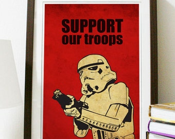 Star Wars - Support Our Troops Poster Vintage Print