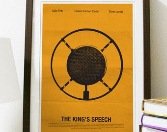 The King's Speech Movie Poster Print