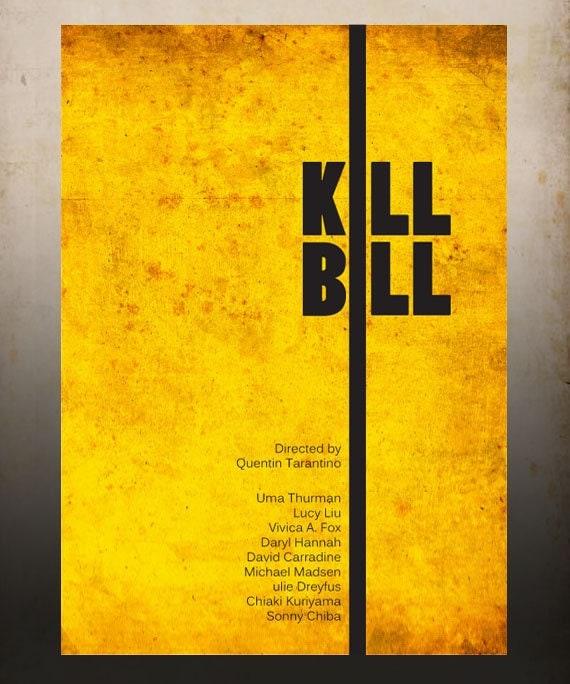 Kill Bill - A3 Poster Vintage Print