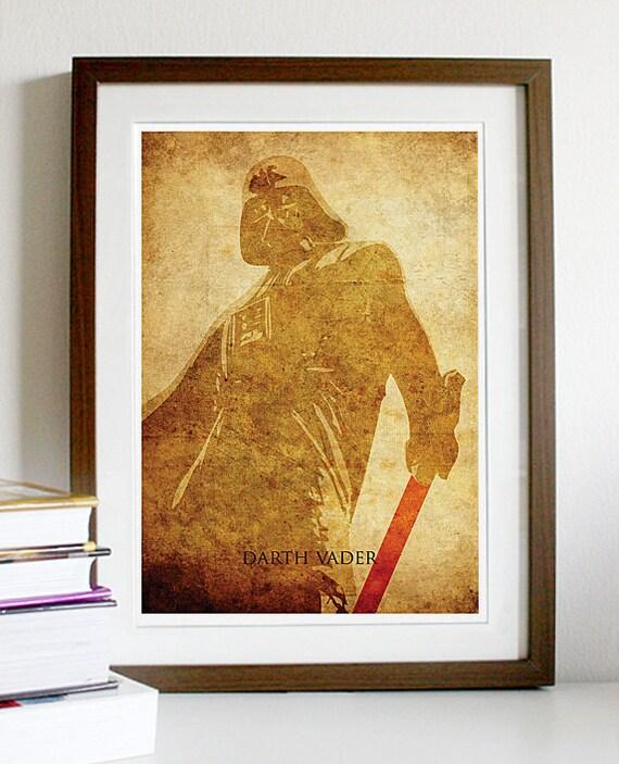 Star Wars Darth Vader Vintage Poster Print