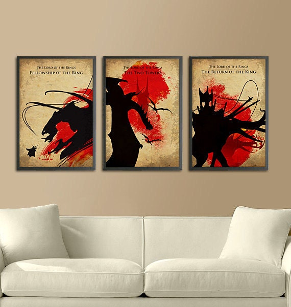 The Lord of the Rings Trilogy Movie Poster Set