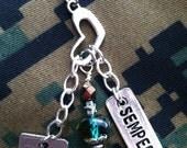 I Love My Marine Necklace