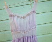 Vintage Grecian Gown Beaded Lavendar SALE
