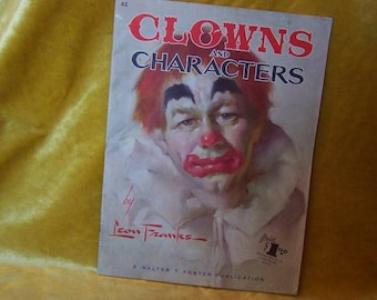 Drawing Book Clowns and Characters