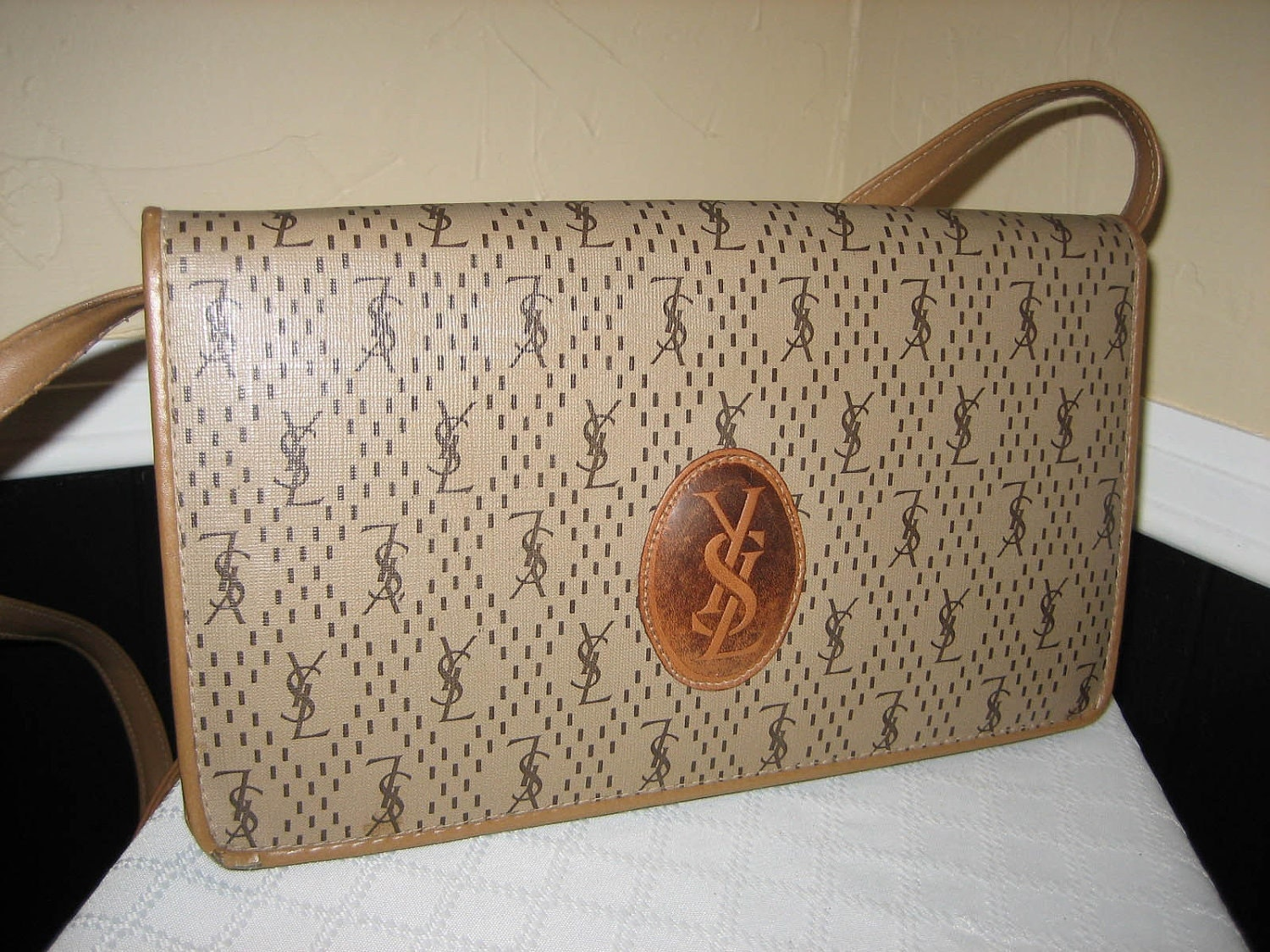 Vintage Yves Saint Laurent Ysl Clutch Shoulder Bag