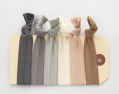 Custom listing for HMJONES05  elastic hair ties light neutrals hair accessories 3 sets of 6 ties