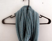 Private listing for Julie- Gray and Turquoise Infinity Scarf