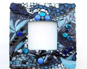 Mosaic Picture Frame - Ocean Blue - Mixed Media Wall Art