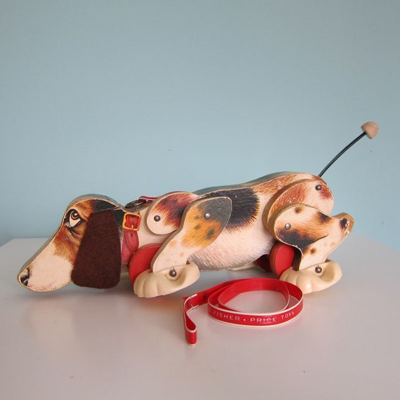 Vintage Fisher Price Snoopy Dog Pull Toy