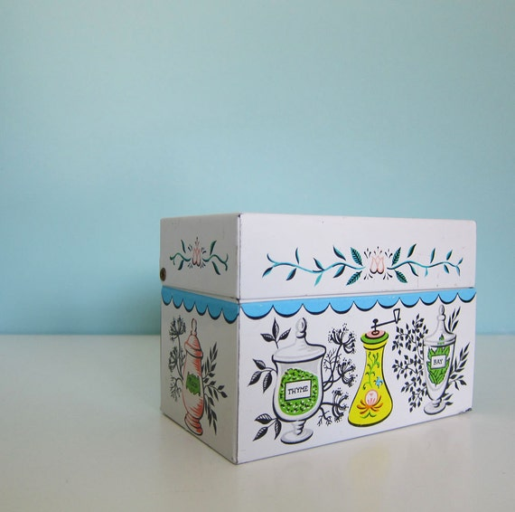 Vintage Recipe Card Box