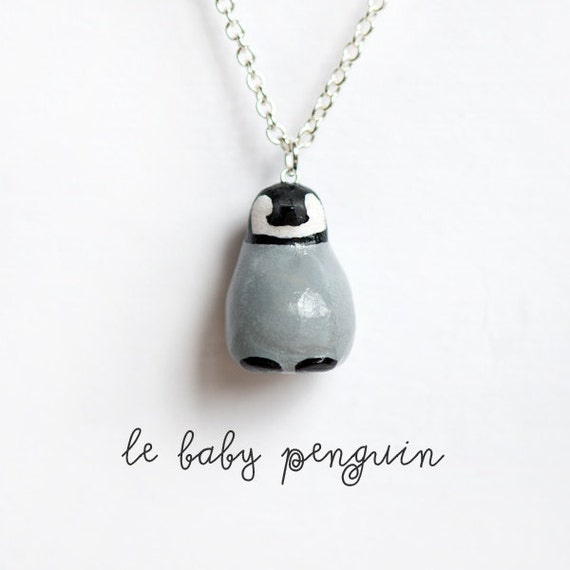 Penguin Necklace, Animal Totem - Le Optimistic Baby Penguin Totem Necklace -