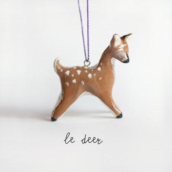 Le Graceful Deer Totem, Christmas Tree Ornament