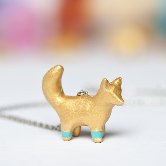 Le Fox Chroma Totem Necklace by le animalé - Made to Order