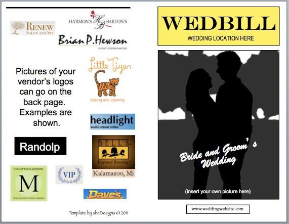 wedbill a playbilllike wedding program template